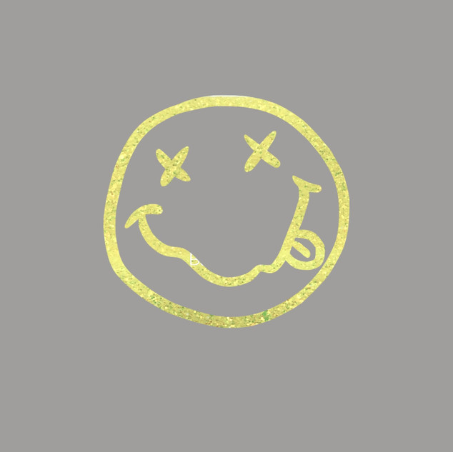 Neon Yellow Glitter Smiley