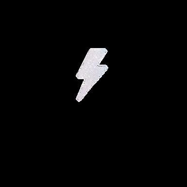 Baby Lightning Bolt White