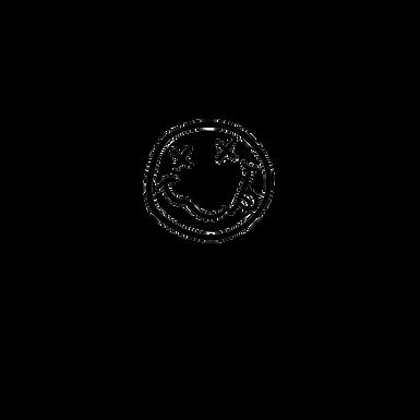 Black Matte Smiley Face