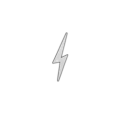 White/Black Lightening Bolt