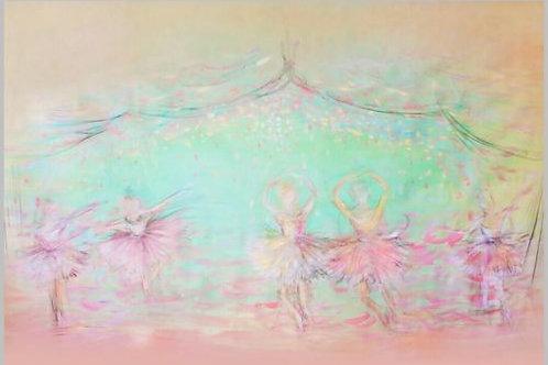 7x5FT Ballerina Backdrop Vinyl