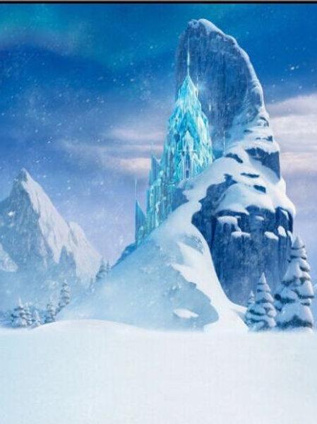 5x7FT Frozen Castle Backdrop Vinyl