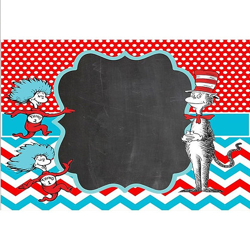 7x5FT Dr Seuss Backdrop Vinyl