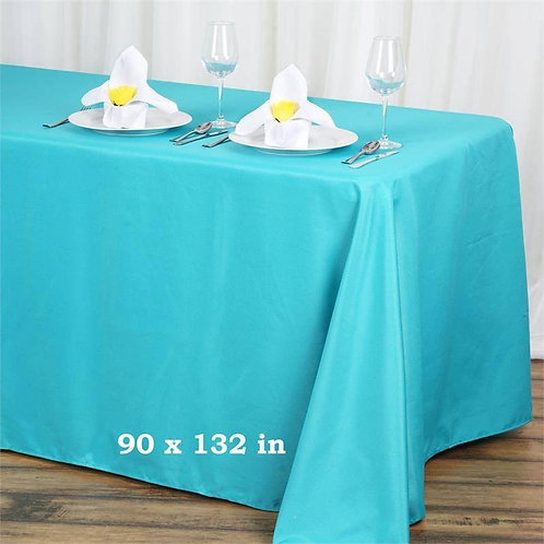 "90x132""  Polyester Tablecloth"