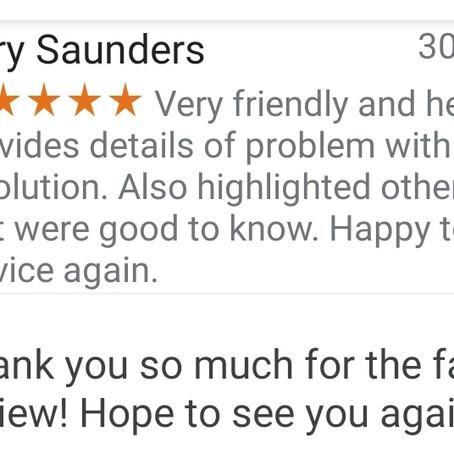 Fantastic Customer Review!!