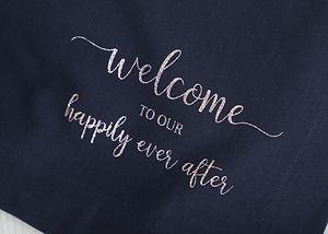 Custom Blankets for Outdoor Wedding
