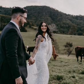 Georgia and Josh's magical Cowbell Creek wedding