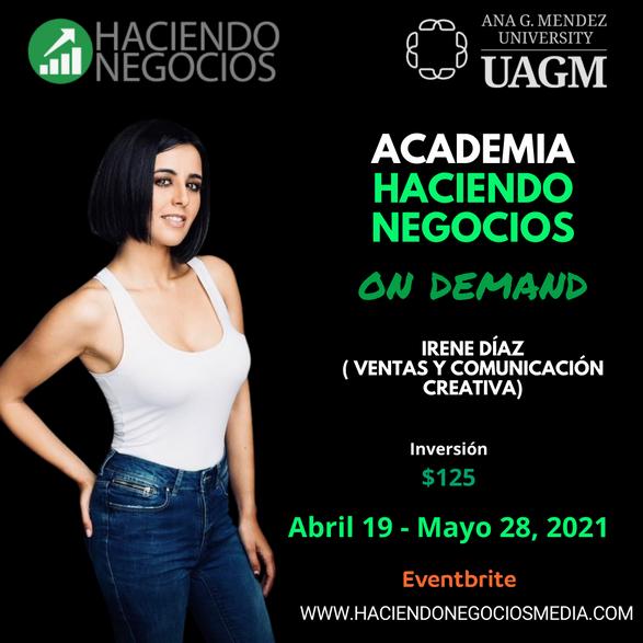 Irene Diaz - Academia Haciendo Negocios con la Universidad Ana G. Mendez de Orlando