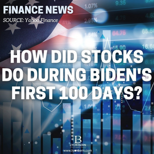How did stocks do during Biden's first 100 days?
