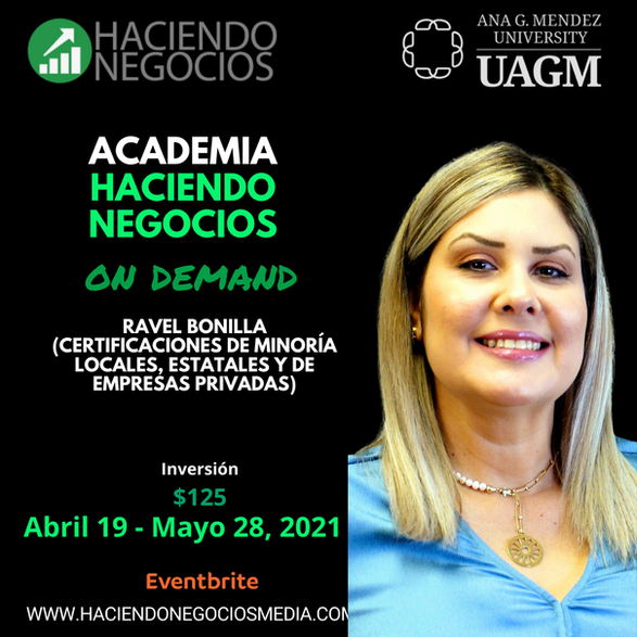 Ravel Bonilla - Academia Haciendo Negocios con la Universidad Ana G. Mendez de Orlando