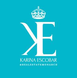 karina escobar logo blue