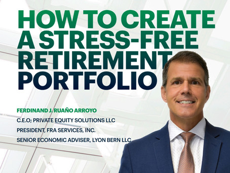 Ferdinand Ruaño to launch book on how to create a stress-free retirement portfolio.