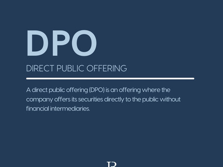 What is a DPO (Direct Public Offering)?