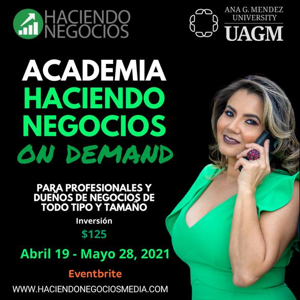 Deisamar De Soto Torres - Academia Haciendo Negocios con la Universidad Ana G. Mendez de Orlando