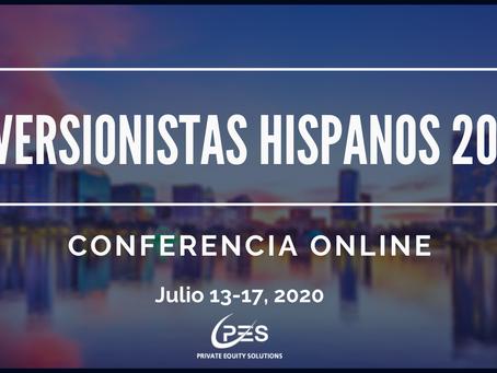 Inversionistas Hispanos 2020 tendra lugar como conferencia online internacional en Julio