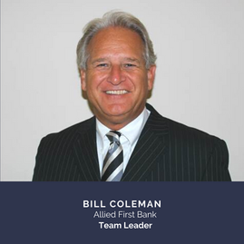 Bill Coleman, Allied First Bank