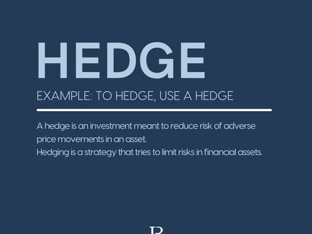 What does 'hedge' mean?