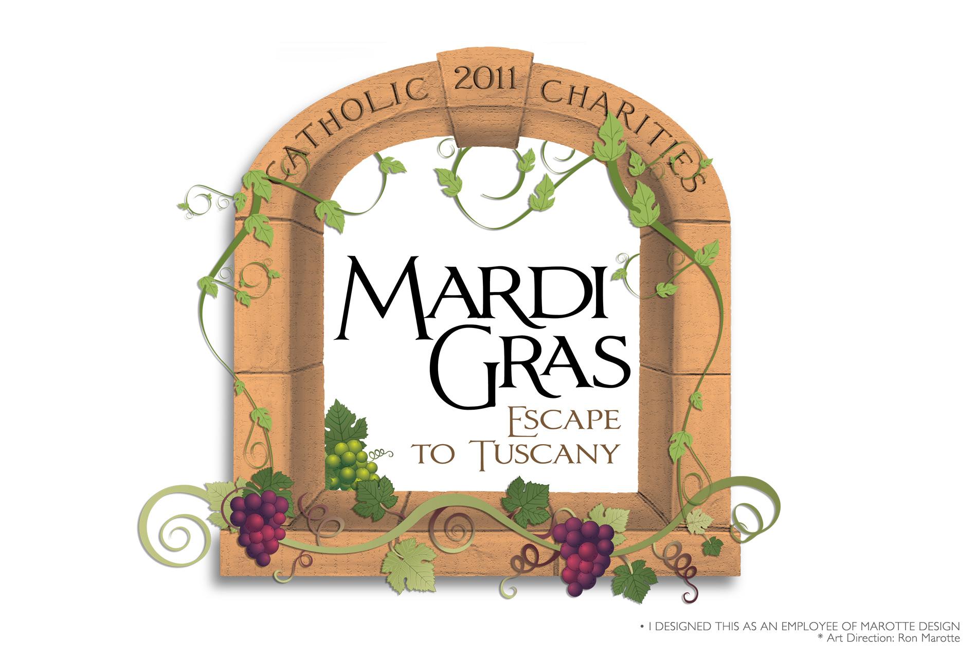 Mardi Gras Event Logo