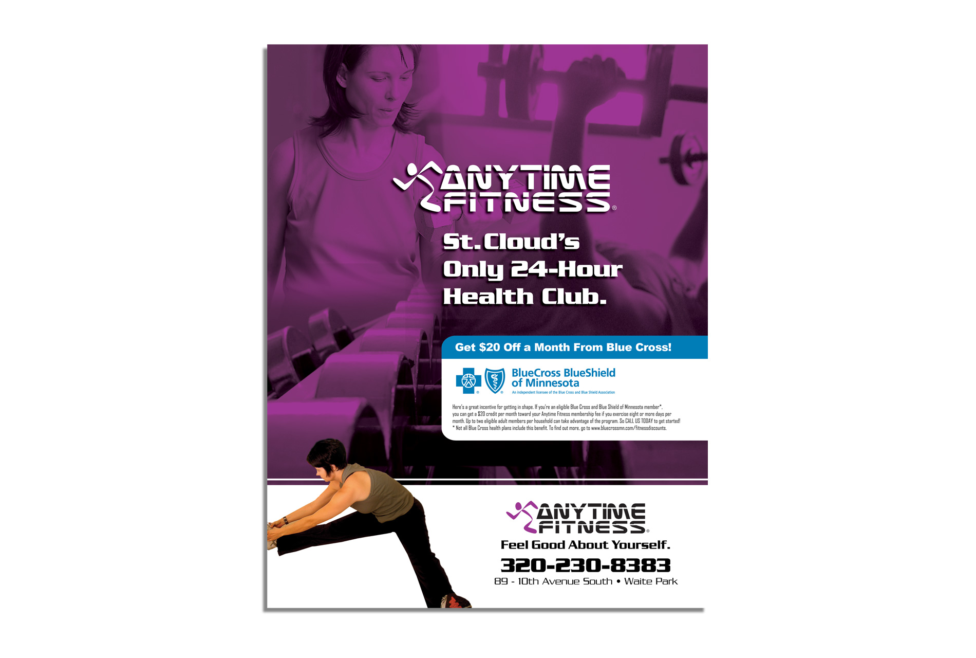 Anytime Fitness Magazine Ad