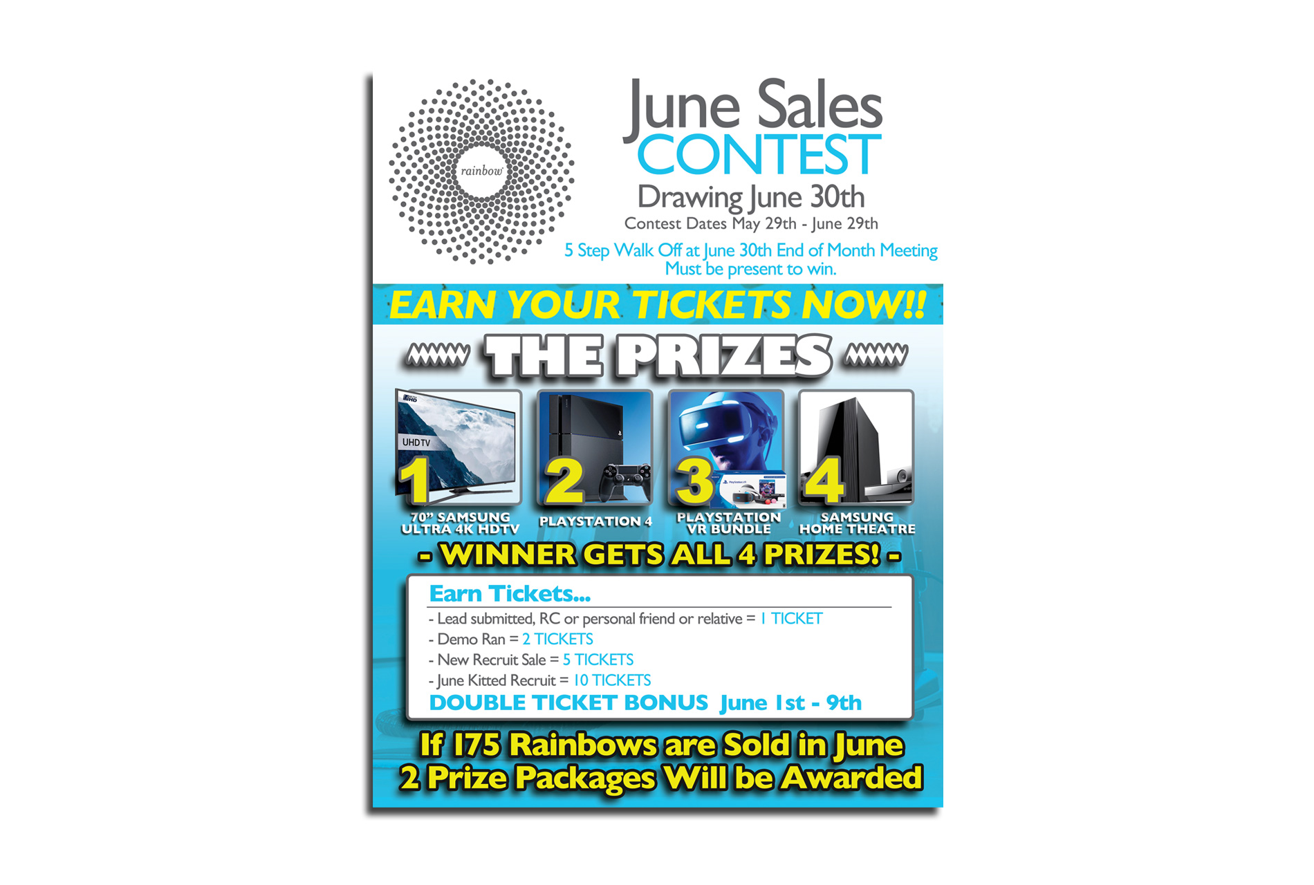 Rainbow Sales Contest Flyer