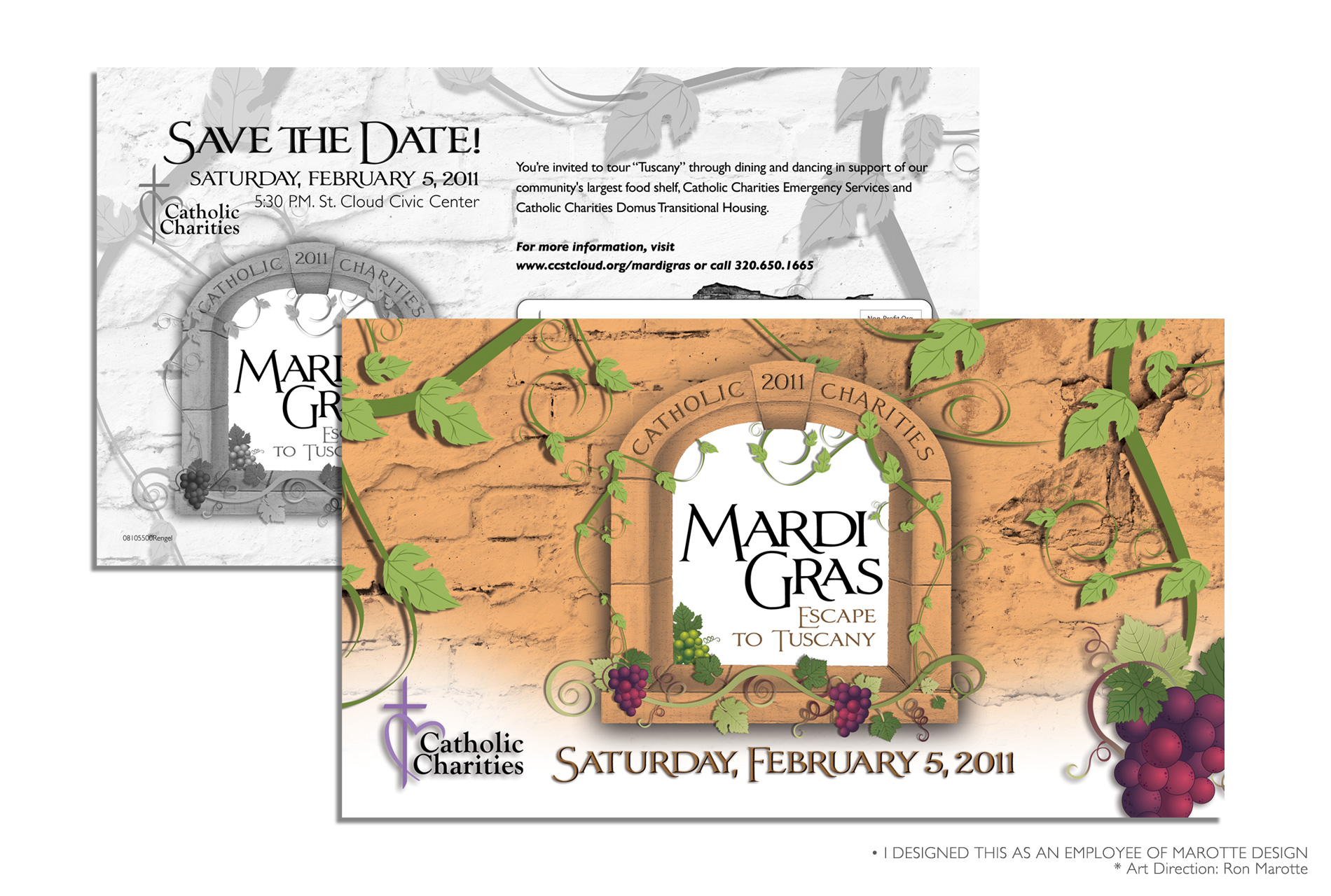 Mardi Gras Save the Date Postcard