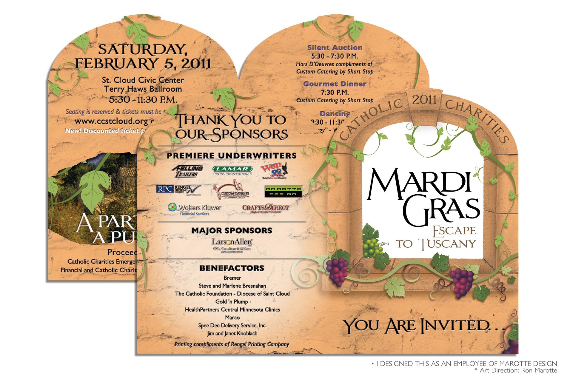 Mardi Gras Event Invitation