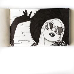 Kat Von D- Art Journal Drawing