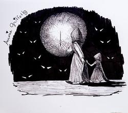 Daughter-Art Journal Drawing