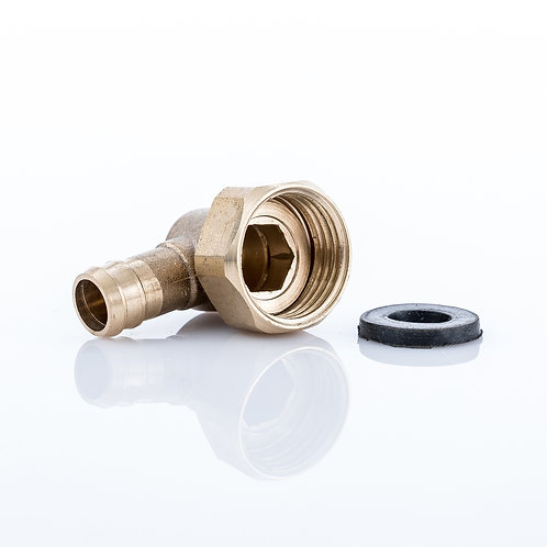 Brass Elbow - Push fit to 15mm Threaded
