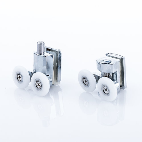 Aqualusso Twin Shower Door Cam Wheels with Quick Release