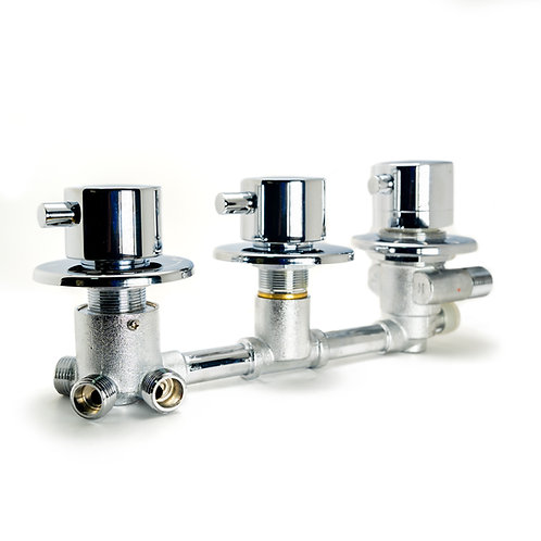 Aqualusso Thermostatic Shower Valve - 3, 5 & 5 Output Threaded Connections