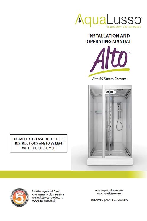 Aqualusso Instruction Manual for  Alto 50