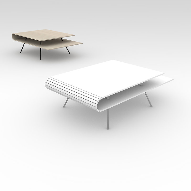 Coffee table LINE design concept by young designer Triin Maripuu, Studio Minumo, nordic design studio
