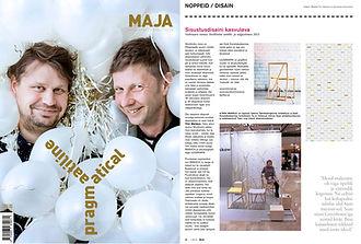 Triin Maripuu, arhitekt ja disainer, esitleb oma tooli ja graafikat Stockholmis mööbli ja valgustusmessil, artikkel arhitektuuriajakirjas MAJA