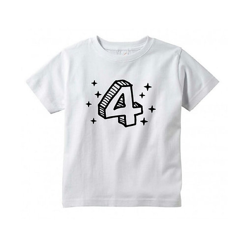 3D Fourth Birthday Tee