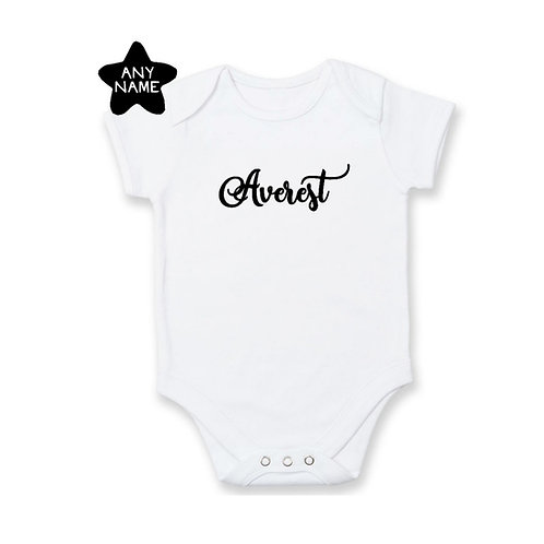 Personalised EMBROIDERED name romper/tee