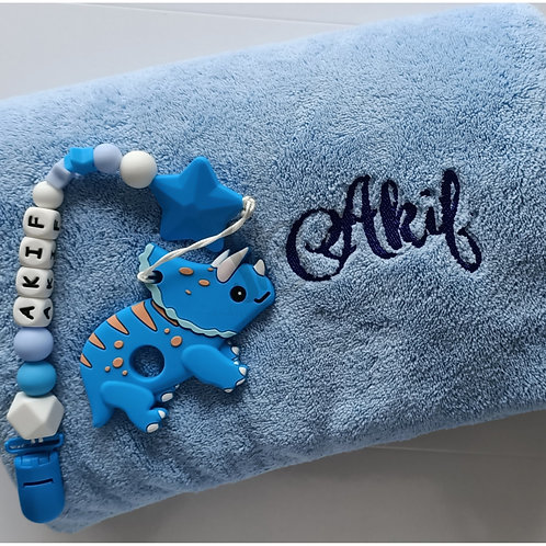 Personalised Towel & Silicone Teether Set