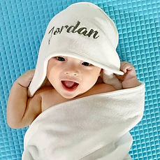 Our baby hooded towel is so soft & absor