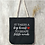 Thumbnail: Teacher's Day Zipper Tote - Black