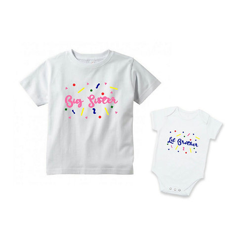Personalised Siblings Outfit - Confetti Love