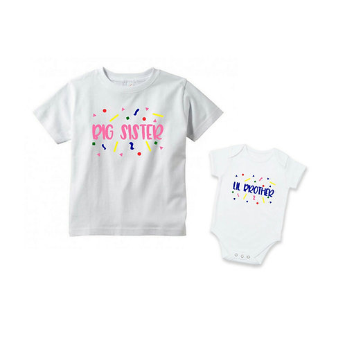 Personalised Siblings Outfit - Confetti Love 2