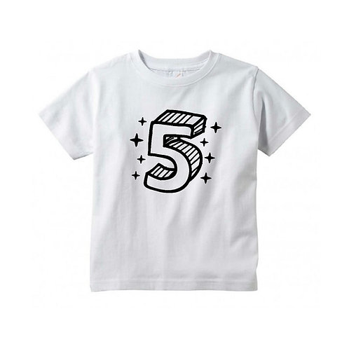 3D Fifth Birthday Tee