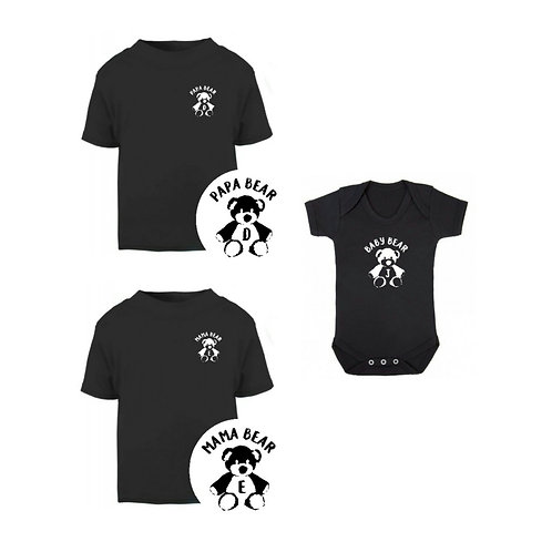 Initial Bear Family Outfit