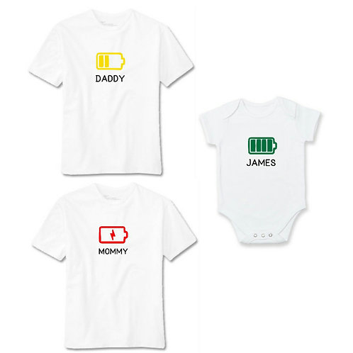 Battery Pack Family Tee - Personalised