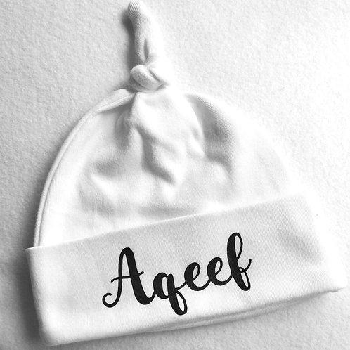 Personalised Baby Knotted Hat / Beanie