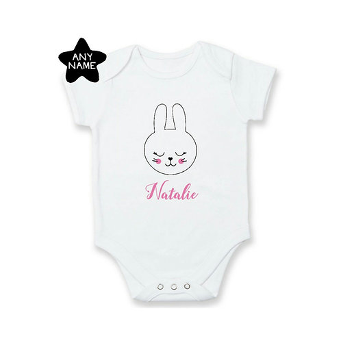 Personalised Bunny Name Romper / Tee