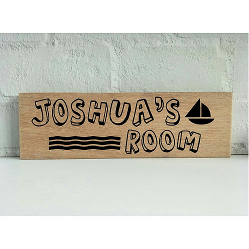 Personalised Nursery Wood Sign