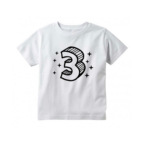 3D Third Birthday Tee