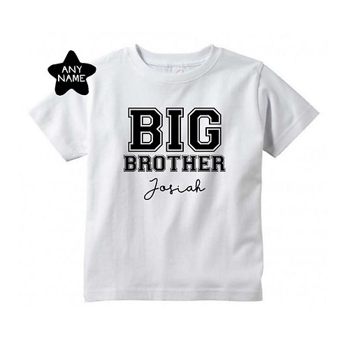 Personalised T-Shirt for Big Brother / Sister in VARSITY