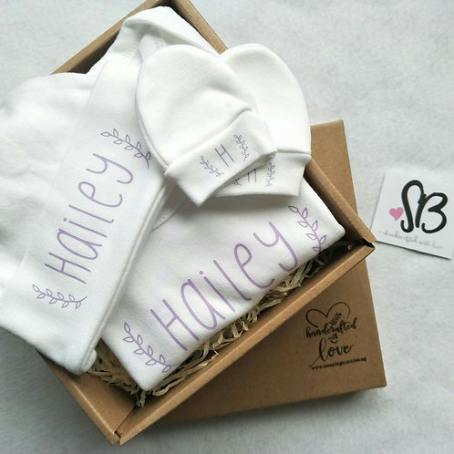Personalised Newborn Baby Gift Set